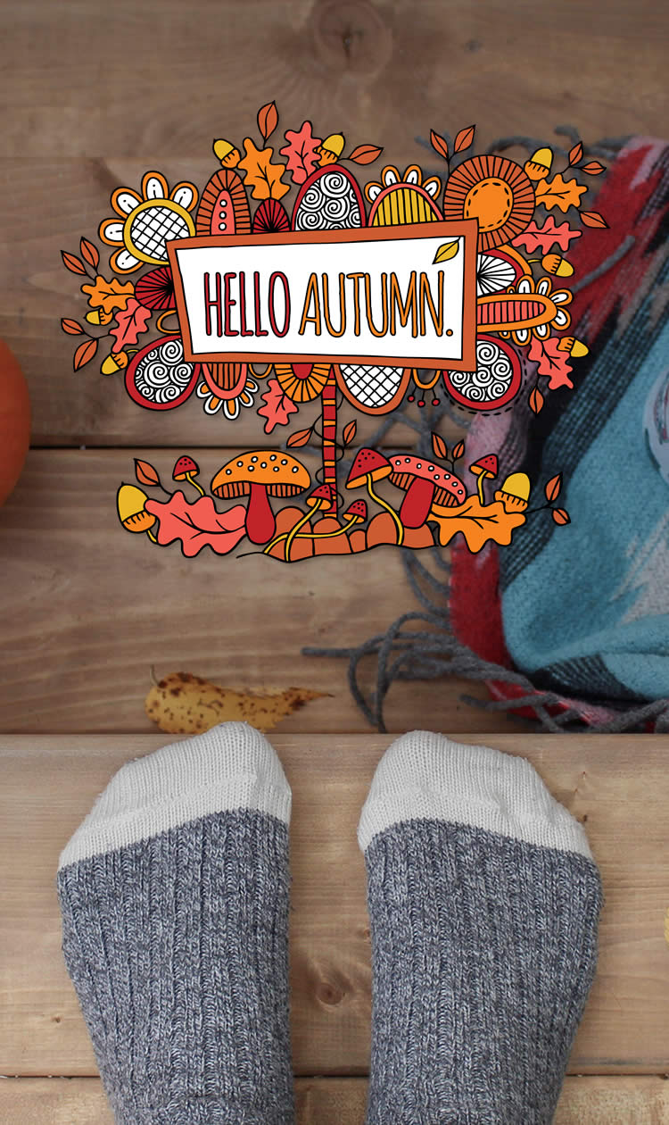 Tazi pin-autumn-graphic