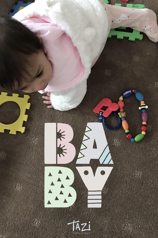 BABY digital graphic by Tazi