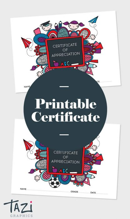 Tazi pin-certificate-appreciation