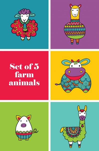 Tazi pin-farm-animals