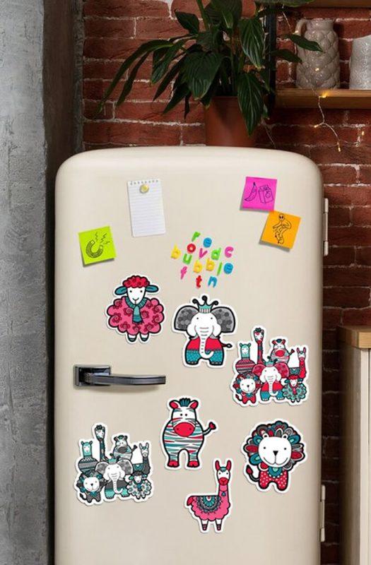 Redbubble Fridge Magnets artwork by Tazi