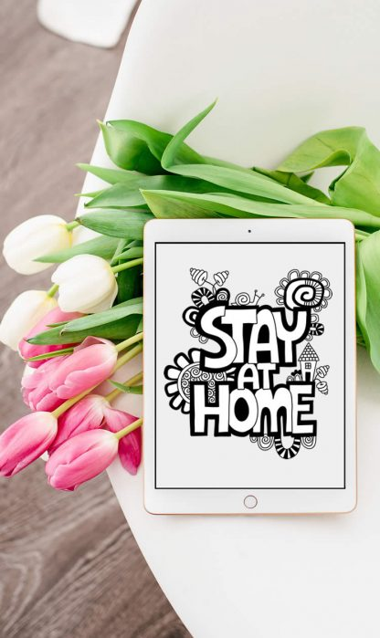 Tazi pin-stay-home-bw-graphic