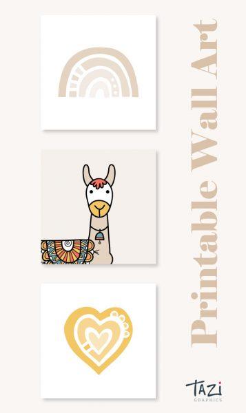 Tazi pin-wall-art-nursery-beige