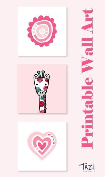 Tazi pin-wall-art-nursery-pink