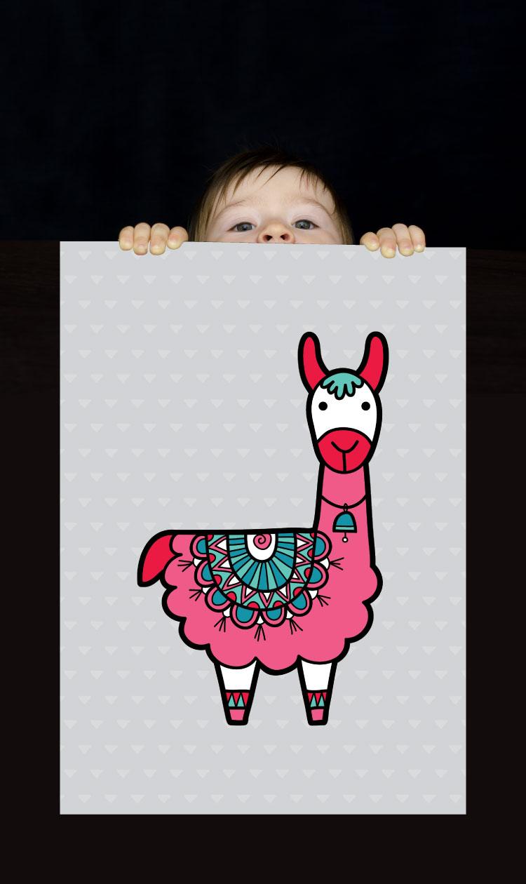Tazi pin-wallart-alpaca