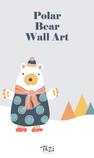Tazi pin-wallart-bear