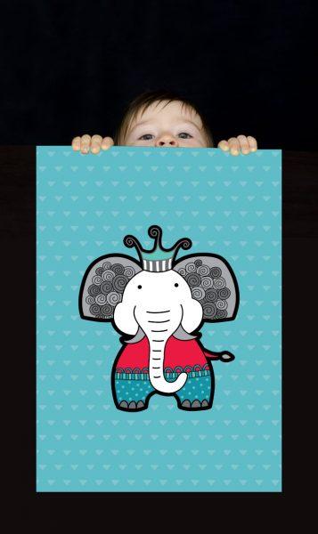 Tazi pin-wallart-elephant