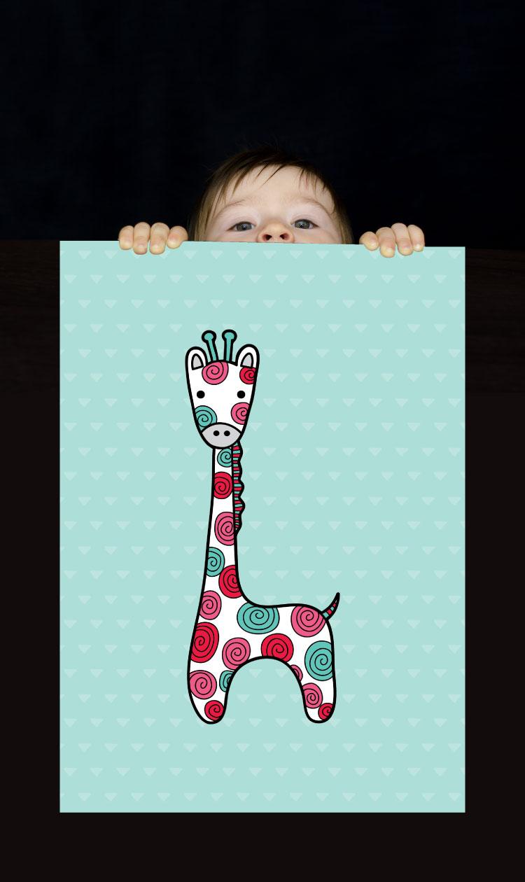 Tazi pin-wallart-giraffe