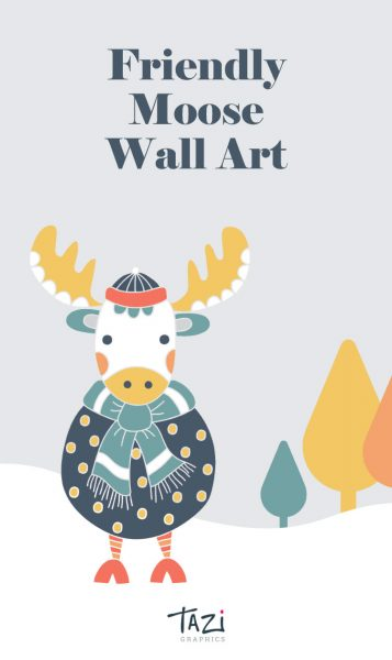 Tazi pin-wallart-moose
