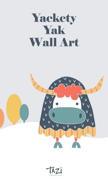 Tazi pin-wallart-yak