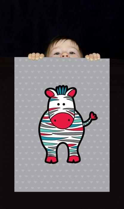 Tazi pin-wallart-zebra