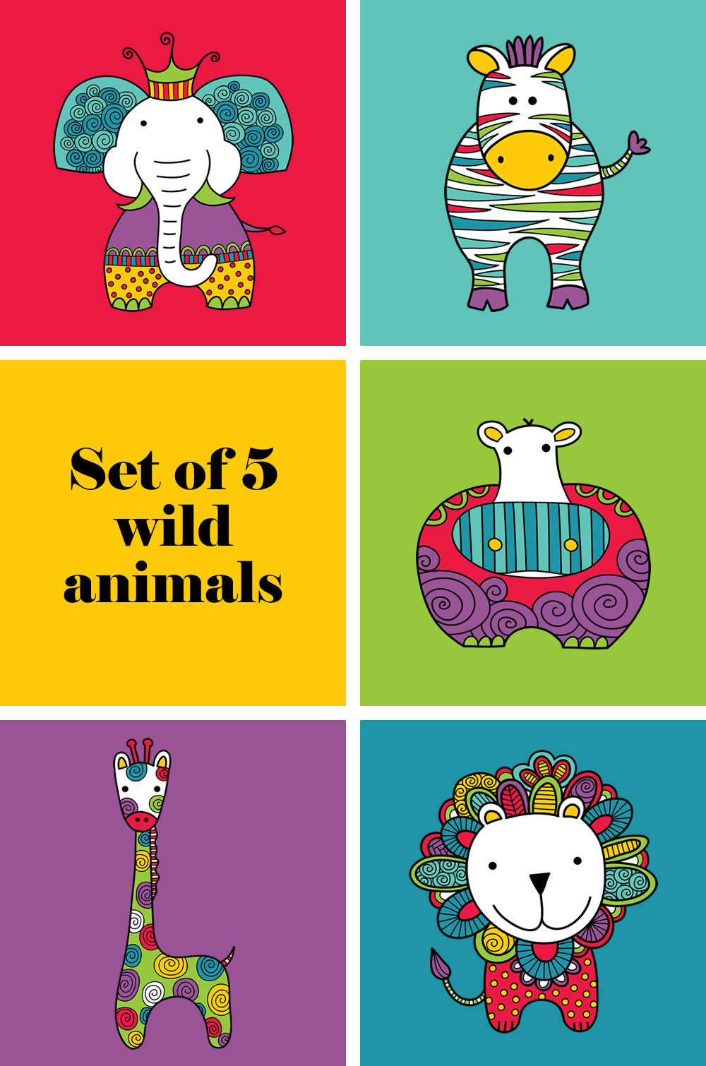 Tazi pin-wild-animals