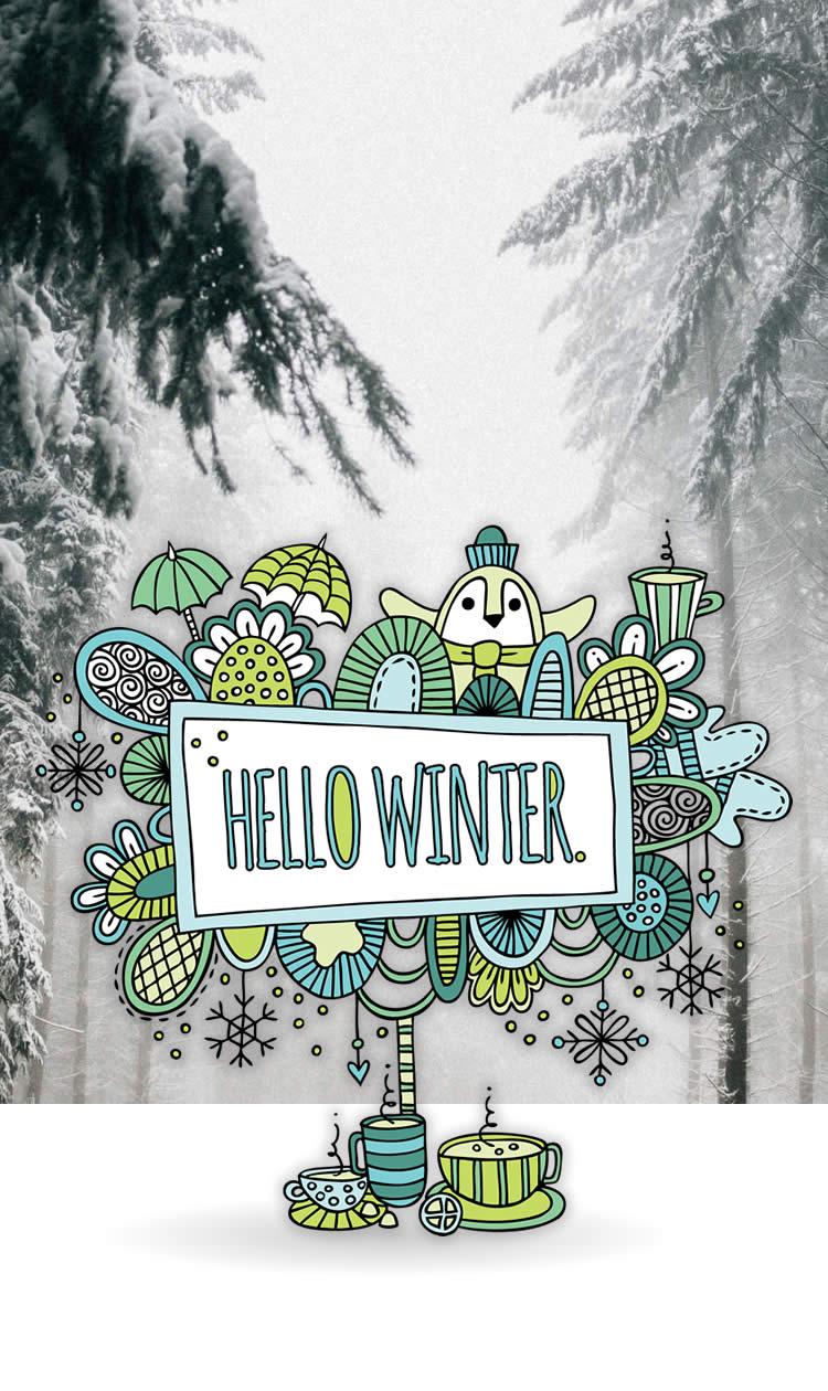 Tazi pin-winter-graphic