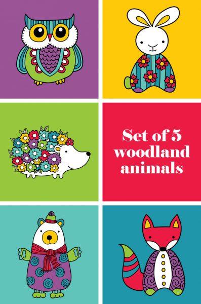 Tazi pin-woodland-animals