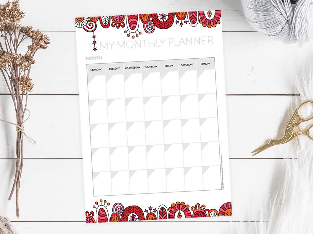Tazi planner-monthly-mockup