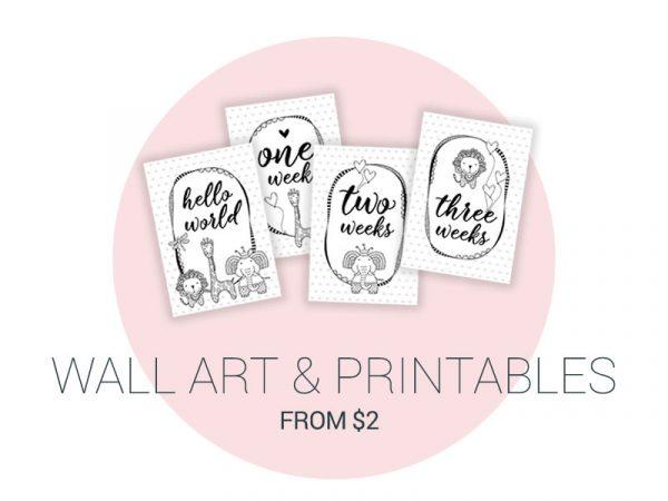 Tazi printables wallart milestones