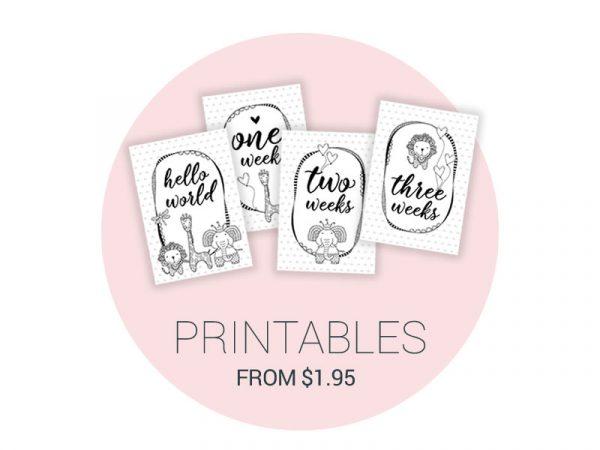 Tazi printables baby milestones colouring