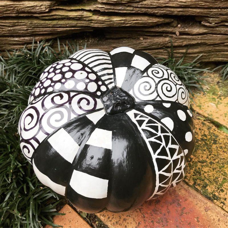 Pumpkin decorating by Tazi