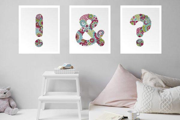 Tazi punctuation-posters