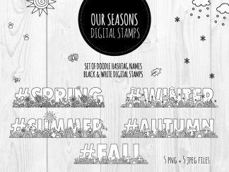 DIY seasons-bw