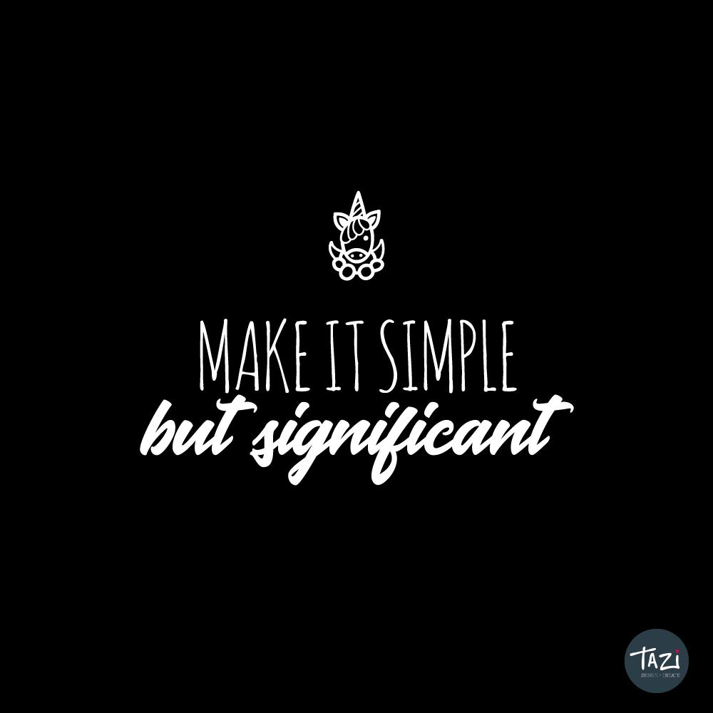 Tazi simple-significant