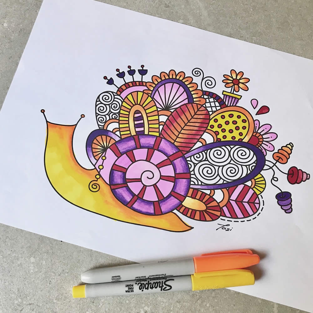 Tazi snail-colouring