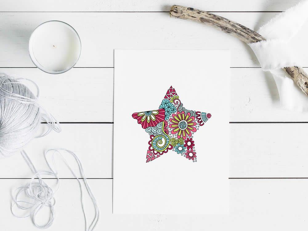 DIY star-doodle-mockup