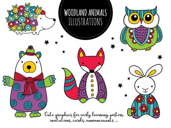 DIY woodland animals